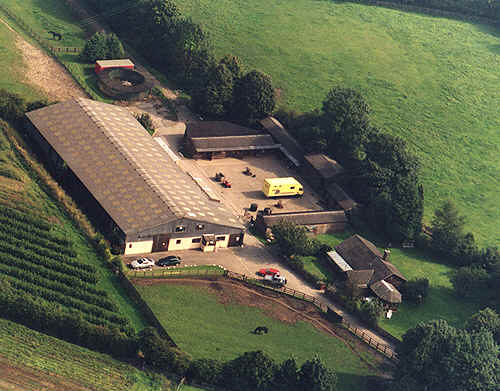 Arial Photograph of End House Stud Farm